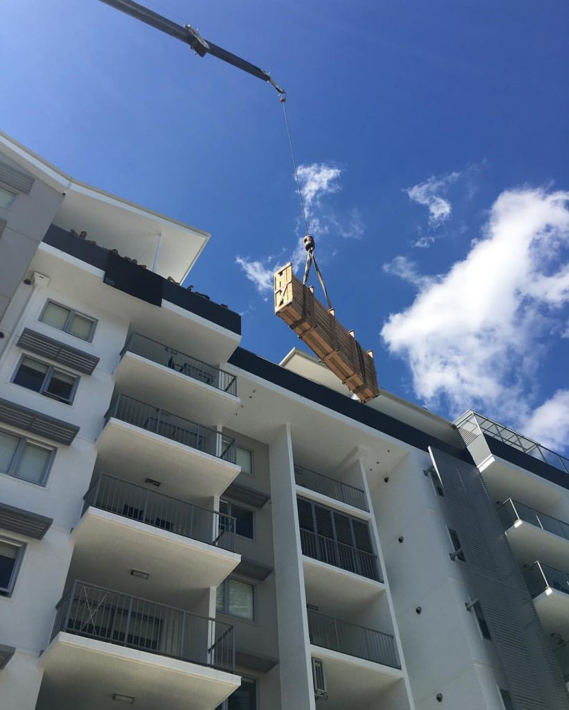 lifting furniture into apartment building
