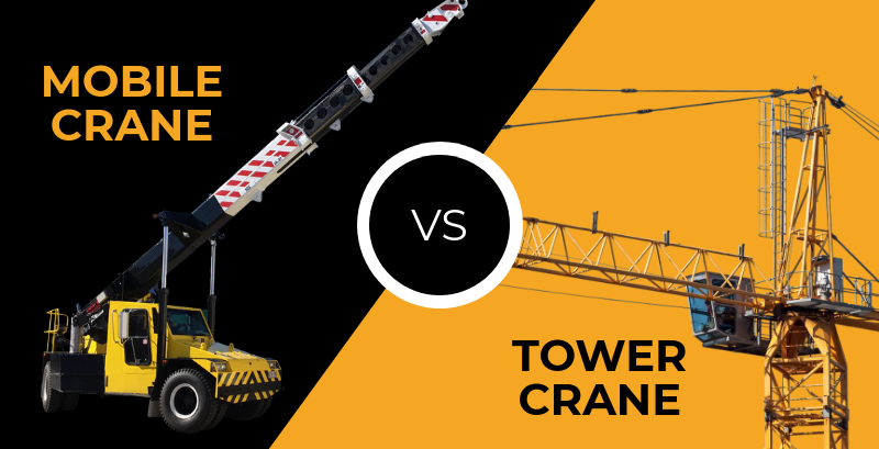 mobile cranes vs tower cranes