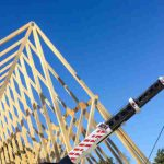 crane hire for roof truss installation