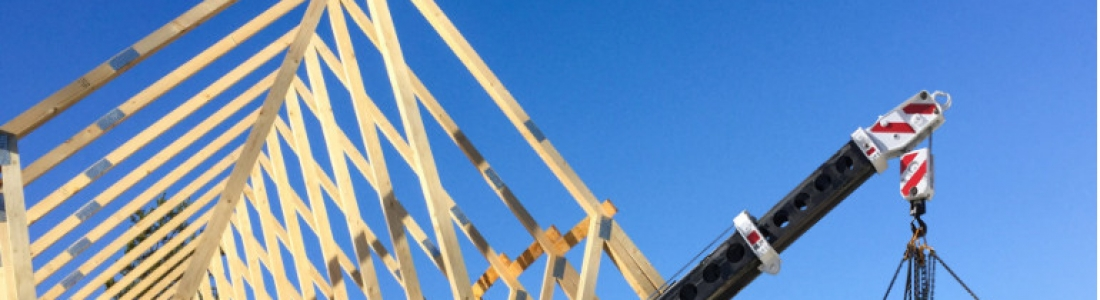 Installing Roof Trusses With Crane Hire
