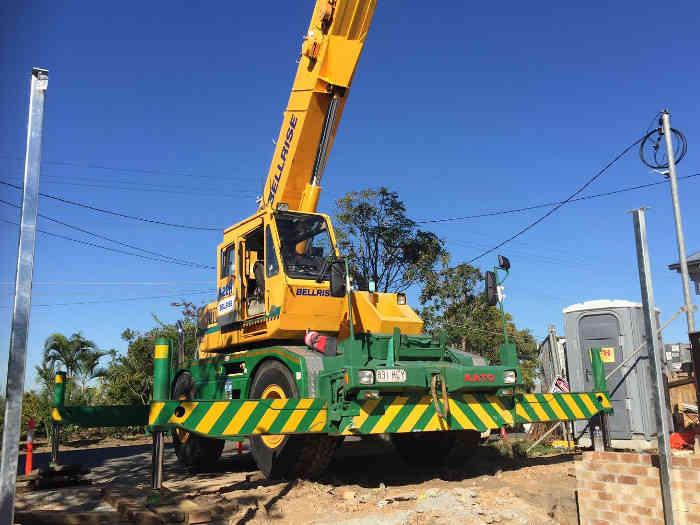 Rough Terrain Crane Hire