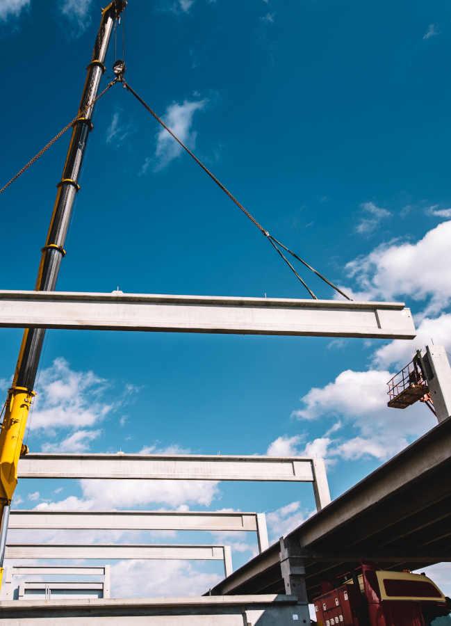 Crane Hire Warehouse Construction Project